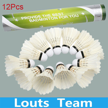 High quality 12x Professional Durable Shuttle Cock SHUANGLIAN First Grade Badminton Shuttlecock Training Match