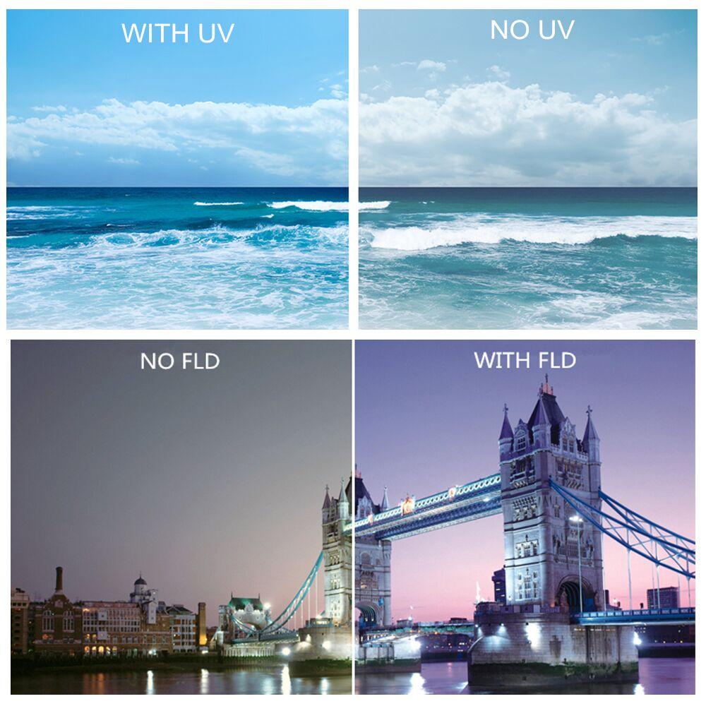 K&F CONCEPT Camera Lens Filter Set 10pcs 58mm UV CPL FLD ND2 4 8+Cap+bag+Lens Hood+Clean Cloth For Canon Nikon d3300 fujifilm 13