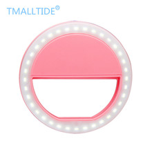 Tmalltide Universal LED Flash Light Up Selfie Luminous Phone Ring For iPhone 6 7 7 Plus LG Samsung For Xiaomi Huawei Lenovo HTC