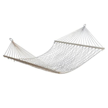 "Best 59"" Double Hammock 2 Person Patio Bed Nylon Rope Outdoor Netting Hanging Swing(China)"