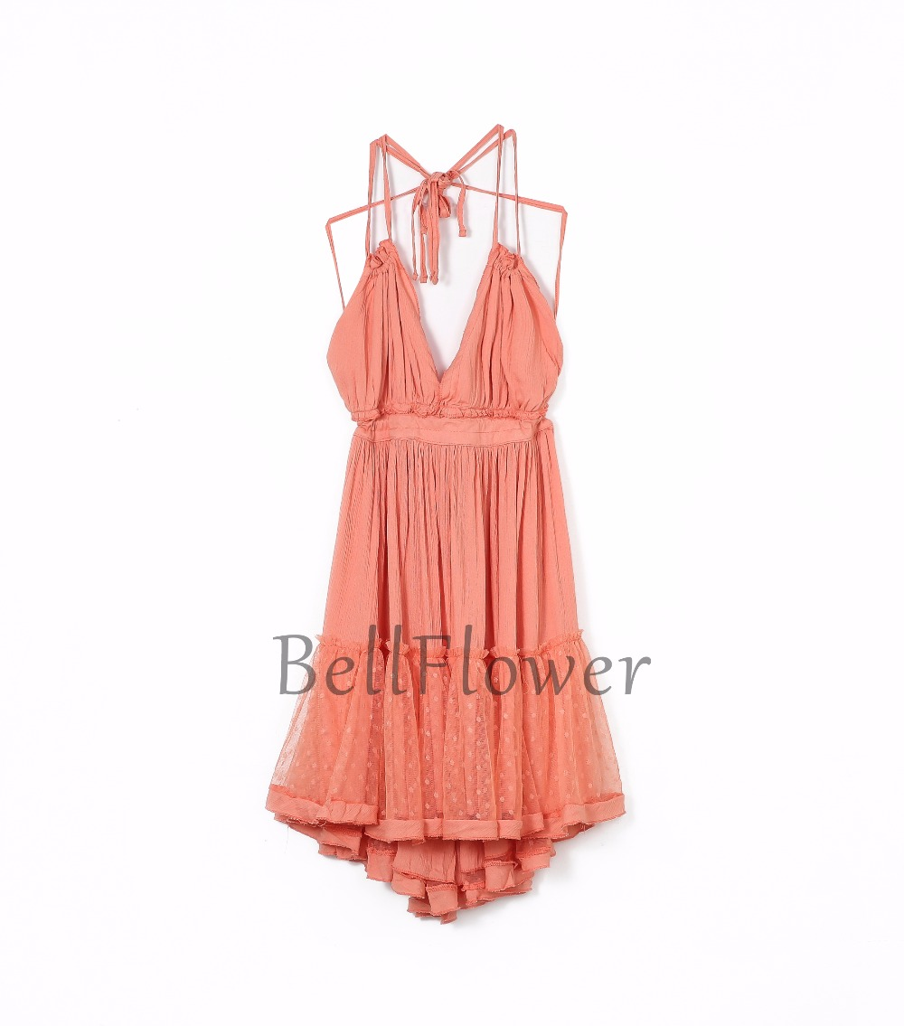 BellFlower 17 Summer Bohemian Women Mini Dress Backless Beach Dress Holiday Boho Strapless Sexy Ball Gown Hippie Chic Dress 4