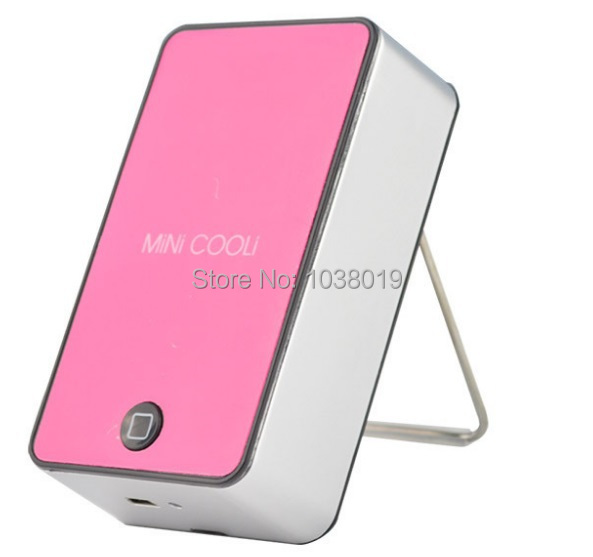 C1-1,Free shipping,Mini Portable HandHeld Table Air Conditioner Cooler Cooling Bladeless Fan USB Rechargeable Battery,Ventilador<br>