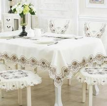 Fashion embroidery Table Cloth tablecloth dinner Mat Cover Cutout  flower  around kitchen Dec wholesale FG221
