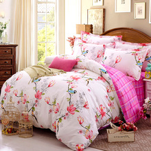 Manufacturers selling cotton four set cotton sheets fitted pillowcase textile bedding sets special offer