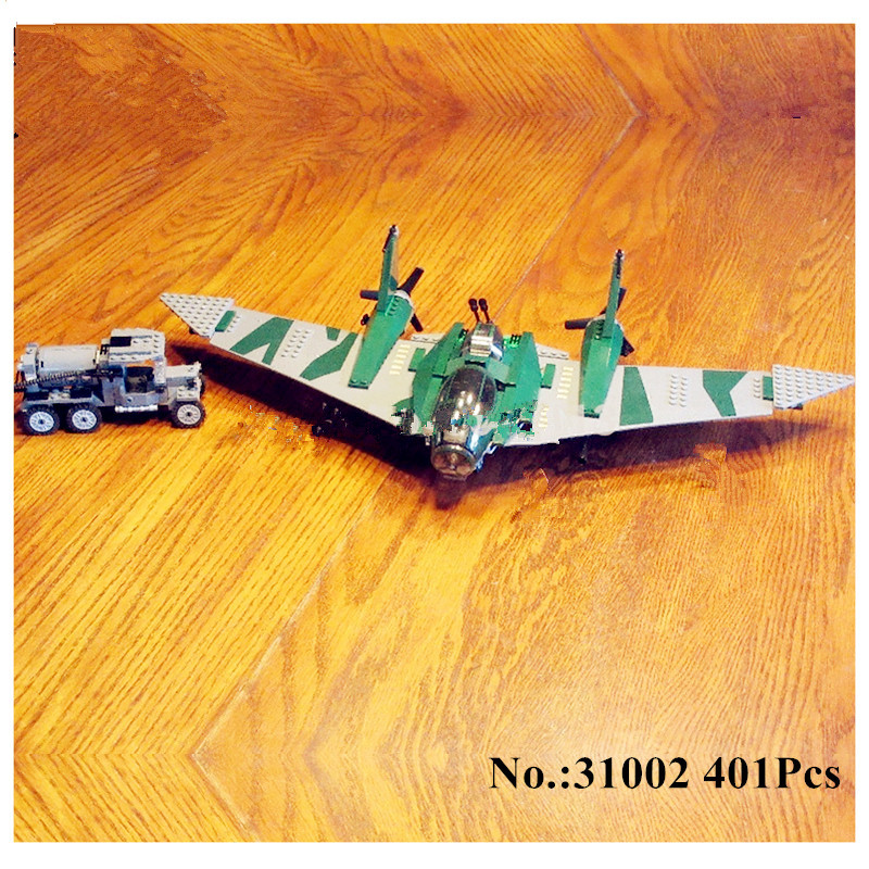 IN STOCK H&amp;HXY 31002 401pcs fight on the flying wing Educational LEPIN Building Blocks Bricks Model Toys 7683 to children toys<br>