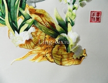 2017 Silk embroidery painting business gifts daffodil sitting room bedroom soft mounts the finished product