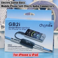 GB2i Electric Guitar Bass Audio Effects Simulator AMP/FX System Amplifier Convertor Adapter Cable Jack for iPhone/iPad,+Gift Box