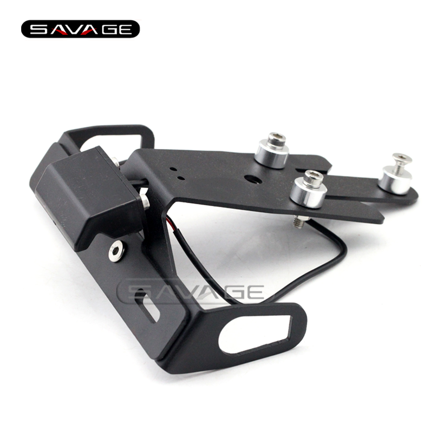 For KAWASAKI ER-6N ER-6F ER6N ER6F NINJA 650R 2012-2015 Motorcycle Tail Tidy Fender Eliminator License Plate Holder LED Light<br>