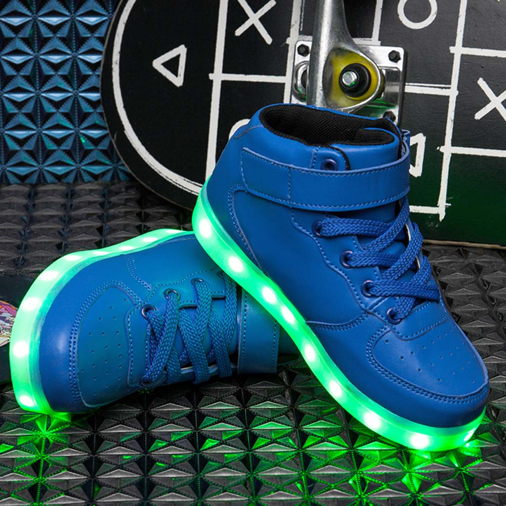 Remote Control Led Shoes Womens Pink Color High Top Shoes With Usb Charging Lace Up Luminous Casual Neon Dancing Party Sneakers Men's Shoes Shoes