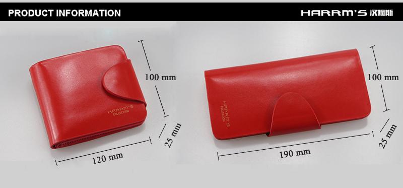 HTB1d0FlRXXXXXbWXXXXq6xXFXXXU - Harrm's Brand Classical Fashion genuine leather women wallets short red blue Color female lady Purse for women with coin pocket