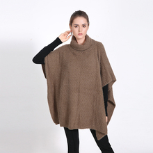 2016 Luxury Brand Winter for Women Poncho Solid Blanket Lady Thicken Shawl Cape Mohair Scarf Oversized Sweater Cardigan Pullover