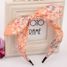 1 PCS Women Hairband Fabric Bow Knot Hair Hoop Rabbit Ears Headband for Headwear Women Hair Accessories 2017 HOT(China)