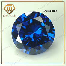 Blue Cubic Zirconia Stone AAAAA 4mm 5mm 6mm 7mm 8mm 9mm 10mm Synthetic Gemstone Round Shape Cubic Zirconia Stone
