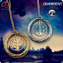 New Wisdom Life Tree Classic Television Divergent Pendant Necklaces Fashion Jewelry Gold and Silver Necklace Gifts Free Shipping