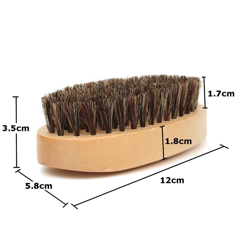 3pcs natural wooden beard comb boar bristle hair brush lice comb men beard apron barber salon cape hairdressing for haircut 9