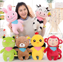Happy farm  animal doll  plush toys  for cute  cows  Rabbit  frog chicken  children gift 40cm