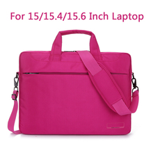 Laptop Shoulder Bag Protective Cover For Macbook Pro Air Reina hp sony dell 15.6 Inch Handbag pink Brwon Black Purple color(China)