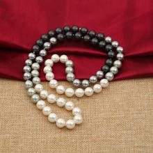 New 930+++The gradient 10MM round shell pearl necklace manufacturers selling natural mbey(China)