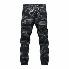 M-5X 2017 Mens Boutique Autumn Pencil Harem Pants Men Camouflage Military Pants Loose Comfortable Cargo Trousers Camo Joggers(China)
