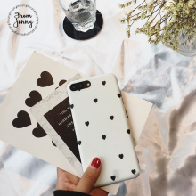White love lily heart Phone Case for IPhone 6 6s 6plus 7/7plus Case Sweet Anti-knock Soft Tpu Silicone Case Cover(China)