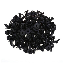 HYT 100PCS Black Door Bumper Fender Cover Automotive Plastic Fastener Snap Auto Trim Clip Rivet Auto Fasteners For Cars styling