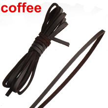 diy 3mm flat leather cord necklaces braided ropes bracelets copy single velour coffee fashion jewelry findings & components 30m