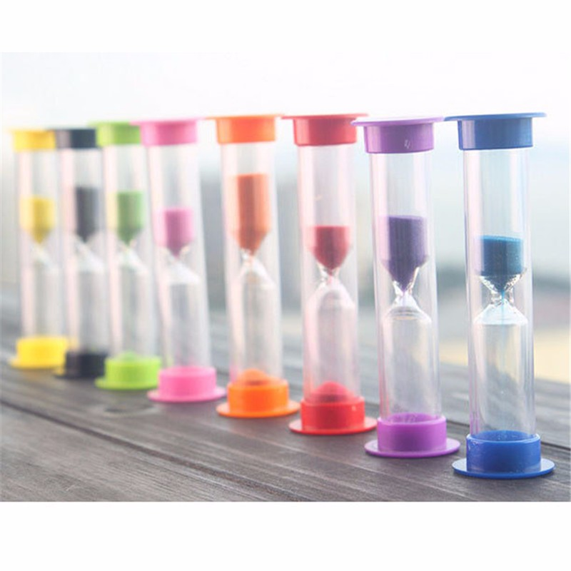 1 PC New Mini Figurines Sandglass Hourglass Sand Clock Timer 60 Seconds 1 Minute Glass Tube Home Bedroom Decoration P25(China)