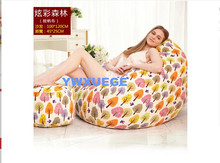 Living Room Dazzle Colour Forest Lazy Beanbag Canvas Cloth Art Sofa Single Creative Gifts Dazzle Colour 100X120CM