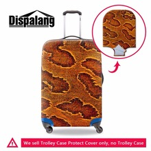 Dispalang Leopard Print Luggage Cover Luggage Protectors for 18-30 inch Cool Elastic Suitcase Cover Luggage Bag Cover for Travel(China)