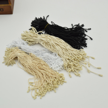 980pcs/lot Good quality  Cotton clothes garment hang Tag String  Snap Lock Pin Loop Fastener Ties For product tags