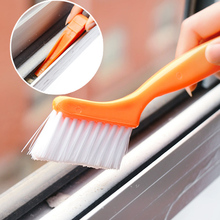 2-in-1 Multipurpose Window Groove Cleaning Brush Keyboard Nook and Cranny Dust Small Shovel / Window Track Cleaning Brushes(China)
