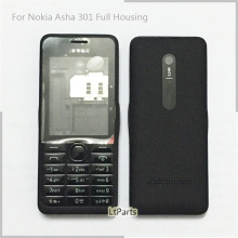 'Dual Sim' Back cover Battery Door case Full Housing Cover Door Frame for Nokia Asha 301 n301 Replacement Parts complete housing