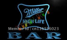 LA436- BAR Miller High Life Beer LED Neon Light Sign