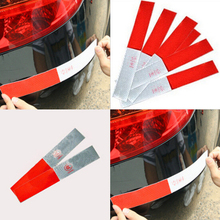 siparnuo 100pcs Car Styling Vinyl Film Strip truck warning Reflective tape Stickers Car Lighting Luminous Sticker Reflector(China)