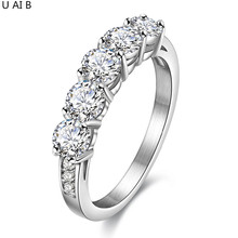 Free shipping Big Hearts and Arrows stone Solitaire Ring titanium steel lady fashion engagement rings for women wedding band(China)