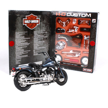Maisto 1:18 Assembly Motorcycle Toy Diecast & ABS Harley Motor 2008 Flstsb Cross Bones Model Kits Educational Kids Toys Juguetes