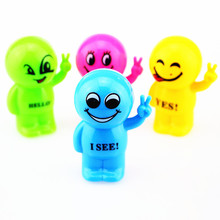 12PCS Funny Emoji doll with letters pencil sharpener Kids happy birthday party supply gift baby shower favors christening gift
