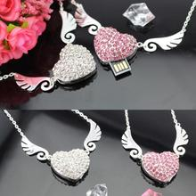 Jewelry Heart Diamond Usb Flash Drive 512GB 128GB Pendrive 64GB 32GB 16GB Memory Flash Card Stick Pen Drive 256GB Luxury Gift