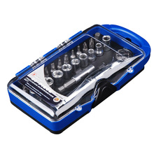 23PCS Torque Wrench Repair Hand Tools  Ratcheting Bits Nut socket screwdriver Ratchet Wrench Extension Adaptor Precision KF011