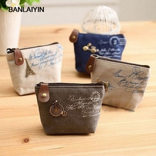 Christmas Gift New Nice Fashion Vintage Women Zipper Coin Purse Wallets Mini Bag Cheap Retro Classic Nostalgic Small Money Bags(China)