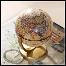 ElimElim Plastic Terrestrial Globe World Globe Fashion Home Decoration Gift For Kids Free Shipping(China)