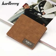 Baellerry Car suture Cross patter Wallets PU Brand Men Wallets Dollar Fashion Bifold Wallet Men Card Holder Coin Purse Pockets