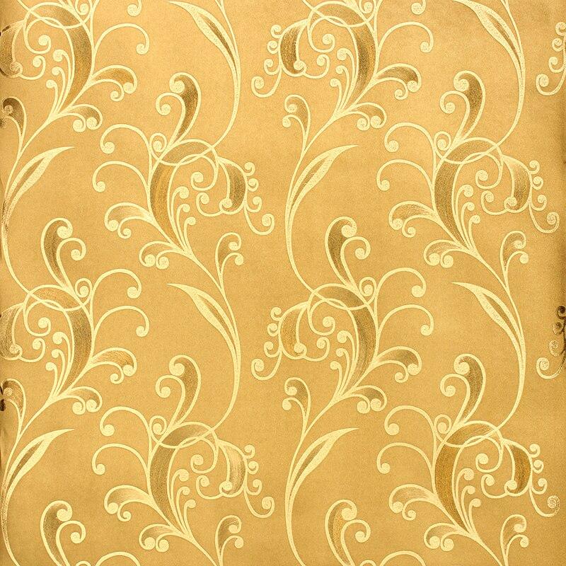 Modern Gold Living Living Walls Wallpapers Flower Foil 3d Wallpaper Vinyl Papel De Parede Para Quarto 3d Flower Wallpaper Roll<br>