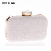 New Bridal Purse Clutches Women Fashion Grace Day clutches Messenger Bag Lace Day Clutch Fashion Wedding Party Dinner Clutches(China)