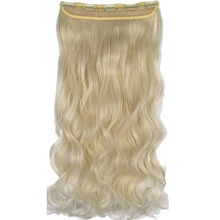"TOPREETY Heat Resistant B5 Synthetic Fiber 24"" 60cm 120gr Wavy 5 Clips on Clip in hair Extensions"