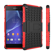 Buy 2016 NEW Sony Xperia Z3 Phone Case Dual Layer Kickstand Heavy Duty Armor Shockproof Hybrid Hard Silicone Rubber Back Case for $3.12 in AliExpress store