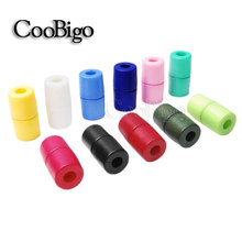 10pcs Pack Colorful Plastic Buckles Breakaway Safety Pop Barrel Connector Clasp Necklace Paracord&Ribbon Lanyards#FLC090(Mix-s)