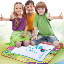 80X60cm Kids Water Drawing Painting Writing Toys Doodle Aquadoodle Mat Magic Pens Children Drawing Board+2 Water Drawing Pen(China)