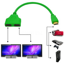 HDMI Male To Female 2 HDMI Cable Split Double Signal Adapter Converter Cable 1 In 2 Out Splitter for Video TV HDTV  High Quality