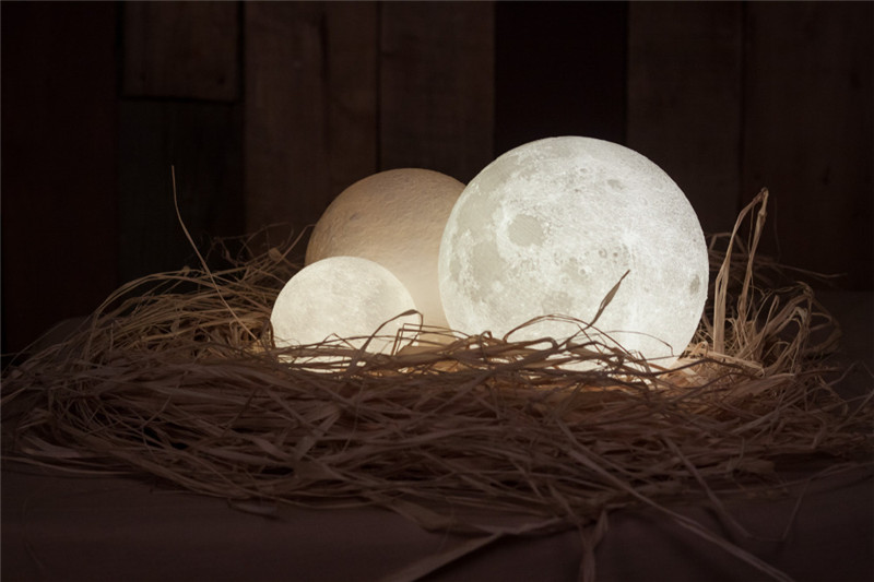 Chiclits LED Moon Lamp 3D USB Magical Moon Night Light 10CM Table Touch Sensor Color Changing Home Bedroom Decoraction Child Kid Girl Gift (25)